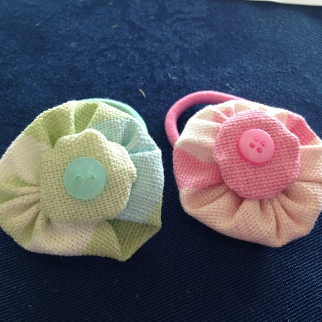 A hair bobble each for the girls ❤️ #lauraashleycrafts