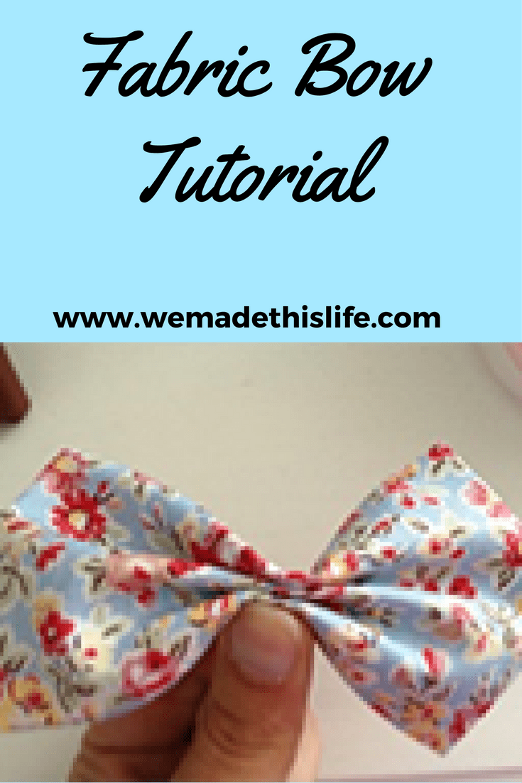 How to make a fabric bow