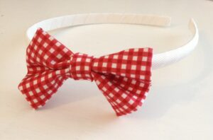 fabric bow headband