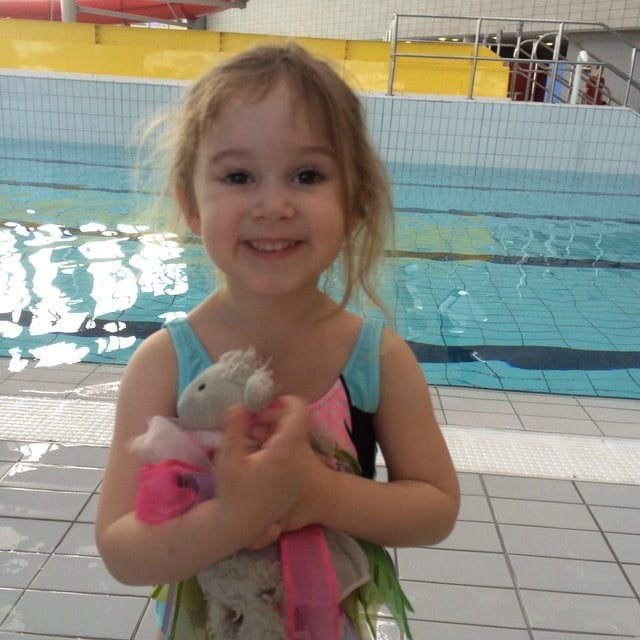 My gorgeous girl at her swimming lessons #swimming #4yearsold #fouryearsold…