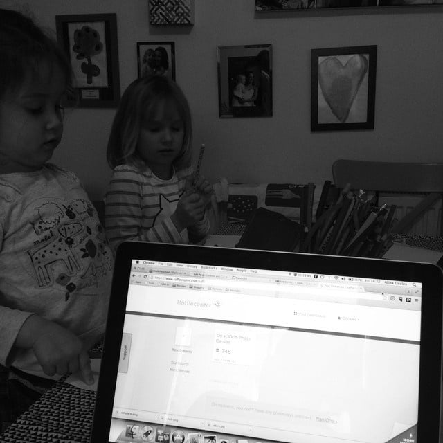 I'm blogging while the baby naps and the girls do…
