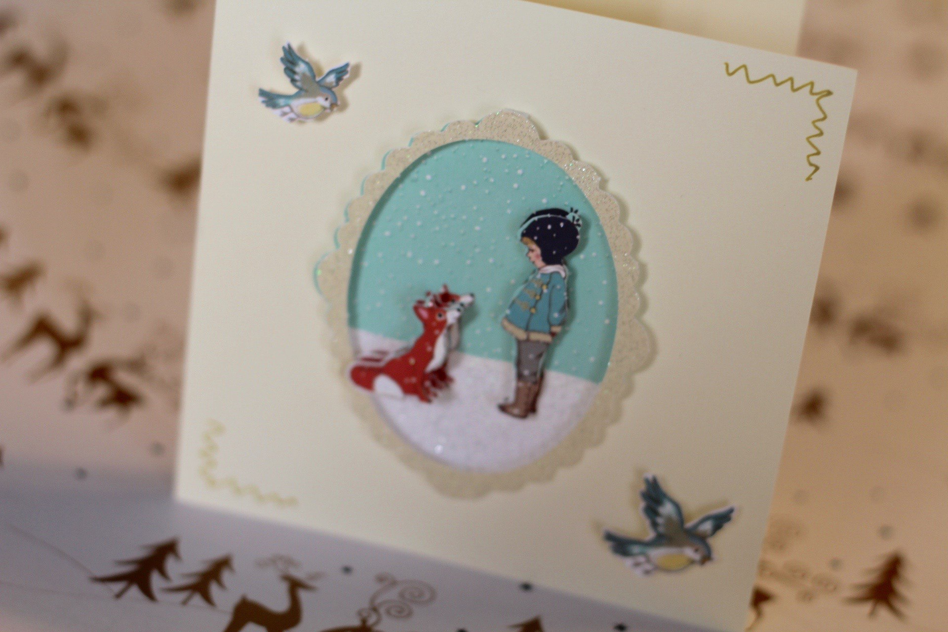 belle and boo christmas card