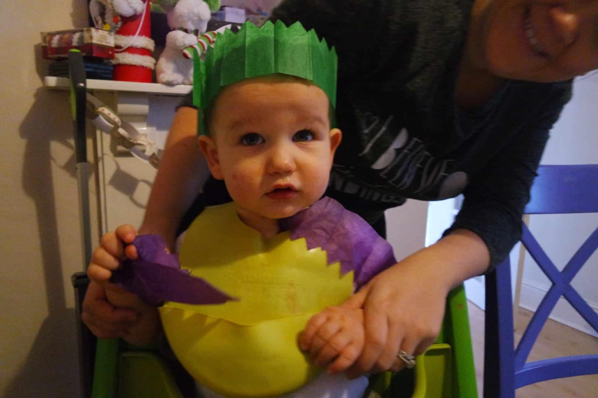 christmas cracker hat baby