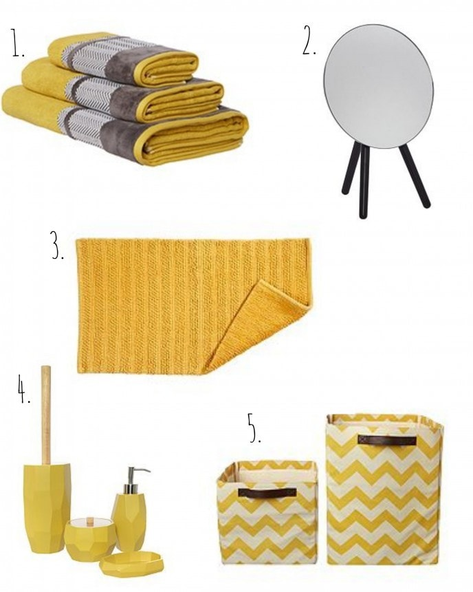 Brightening your bathroom for spring and summer 2016 we for Bright bathroom sets