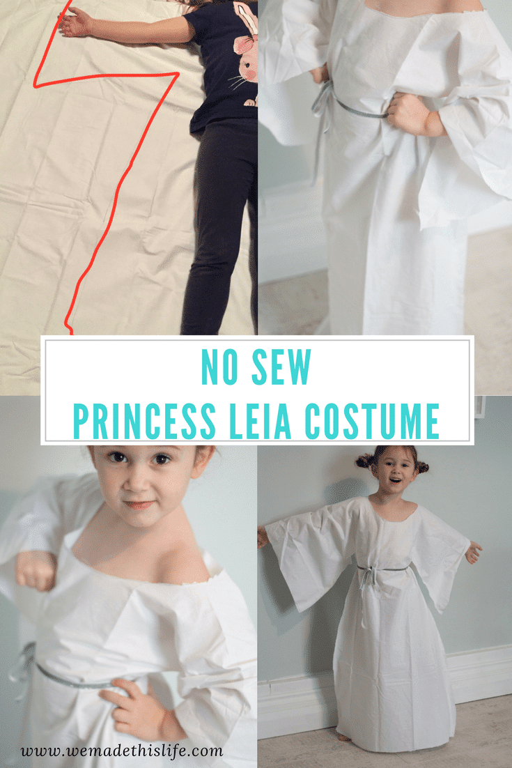 no sew princess leia costume