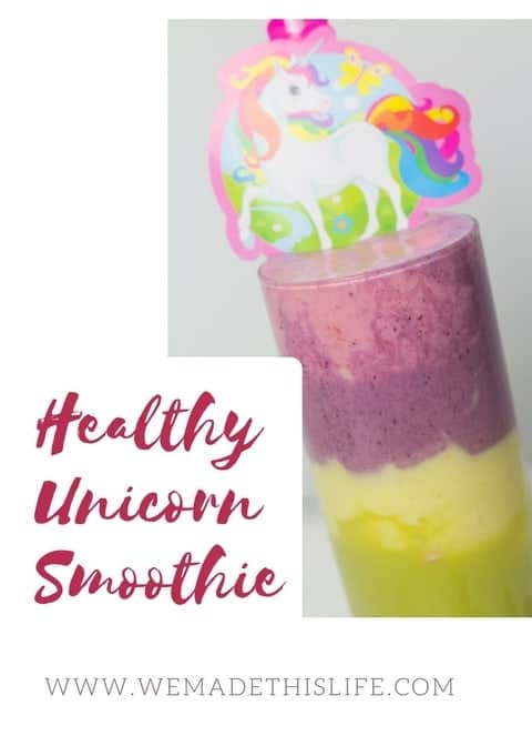 Healthy unicorn smoothie