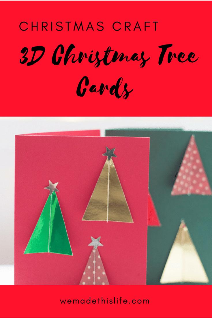 3d christmas tree cards handmade christmas card craft for Christmas tree cards to make