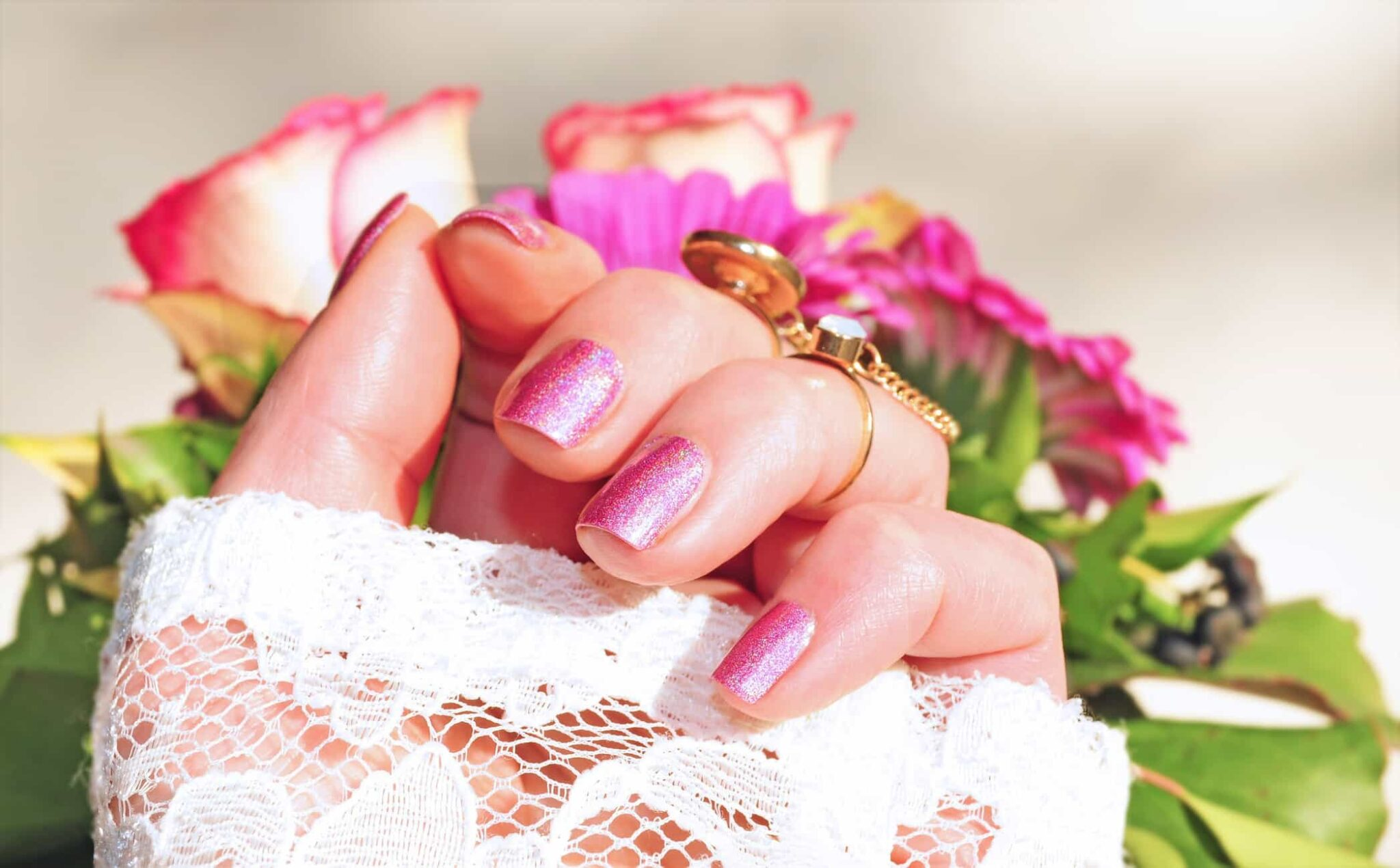 nails and flowers