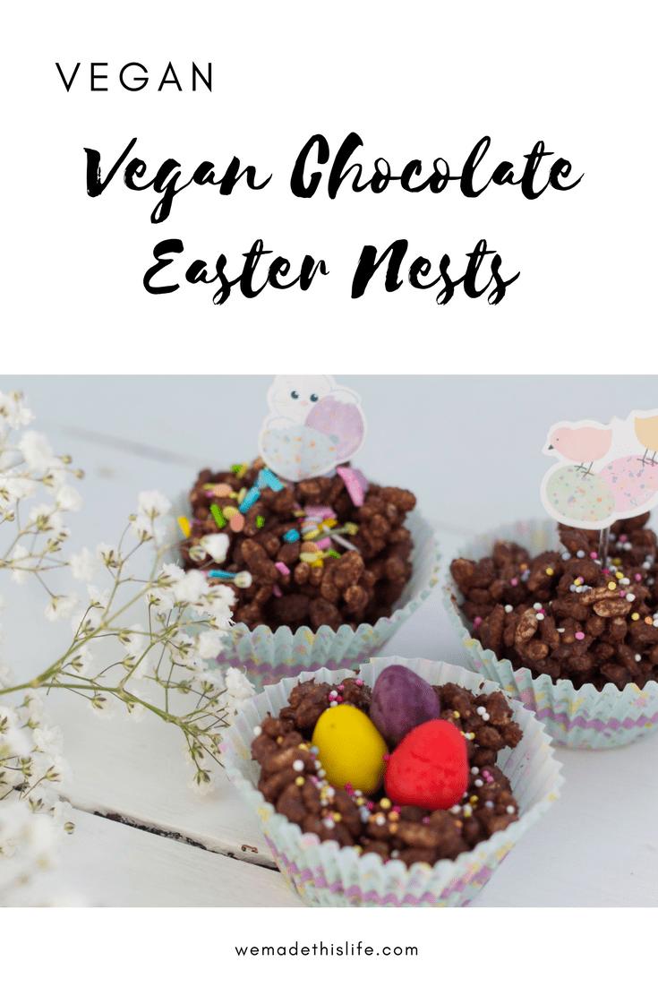 Vegan Chocolate Easter Nests